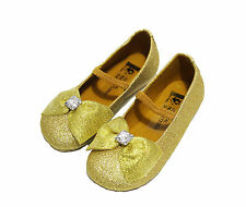 NWT Coastal Projections Girls' Gold Holiday Mary Jane Shoes ~ Toddler Size 5-7