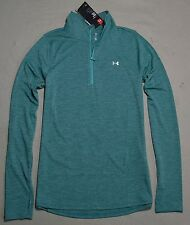 NWT WOMEN UNDER ARMOUR LOOSE FIT COLD GEAR 1/2 ZIP HENLEY JACKET UPF 30 SZ SMALL