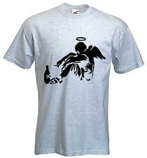 BANKSY FALLEN ANGEL T-SHIRT - Graffiti Urban Art  - Choice Of 9 Colours S-XXXL