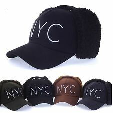 Unisex Balaclava NYC Baseball Cap Trapper Hats Knitted Winter Hats Curved Hats