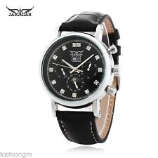 Men Automatic Mechanical Watch Genuine Leather Strap Date Day Month  Wristwatch