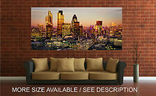 Wall Art Canvas Print Picture London Skyline Night Panoramic View-Unframed