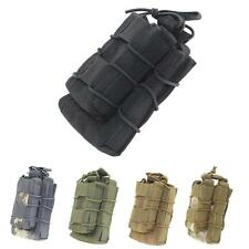 Tactical MOLLE Open Top Double Decker Single Rifle Pistol Mag Pouch Magazine Bag