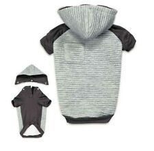 TEXTURED STRETCH DOG HOODIE Zack & Zoey Elements Winter Sweater Removable Hood