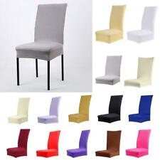 1pc Removable Stretch Slipcovers Short Dining Room Stool Chair Seat Cover