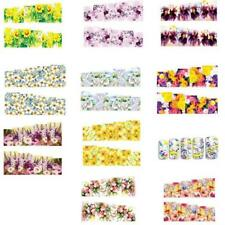 10 Sheet 3D Nail Art Sticker Water Transfer Decoration Flowers Floral Decals Tip