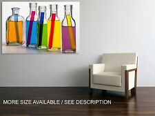 Canvas Print Picture Colorful Glass Bottles / Stretched - ready to hang