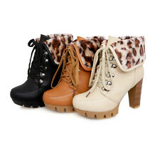 sexy Women Platform Ankle Boots Block High Heels work shoesCourt Shoes Straps