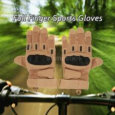Outdoor Hard Knuckle Tactical Gloves Full Finger Sport Shooting Hunting New V2Q7