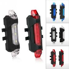 USB Rechargeable LED Bicycle Bike Cycling Rear Tail Light 4-Flash Modes Lamp