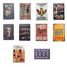 20x30cm Vintage Metal Sign Tin Plaque Poster Pub Bar Cafe Home Wall Decor Beer