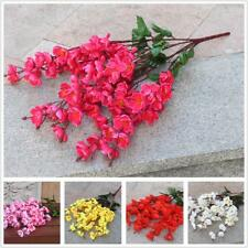 Artificial Cherry Spring Plum Peach Blossom Branch Silk Flower Tree Decoration