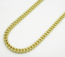 """3MM 10K Yellow SOLID Gold Diamond Cut Franco Chain Necklace 18""""-24"""""""