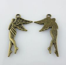32/250pcs Tibetan Bronze Charm Angel Crafts Pendants 16x30mm Jewelry Making