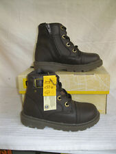 Caterpillar TOWSON Infant Boys Brown Leather Boots (38A)