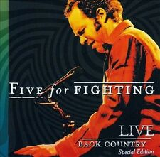 Five for Fighting New Sealed Special Edition CD / DVD Back Country Live Concert