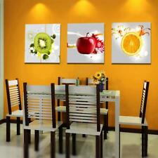 3pcs Canvas Kitchen Wall Hanging Art Painting Picture Fruits Print Gift Decor