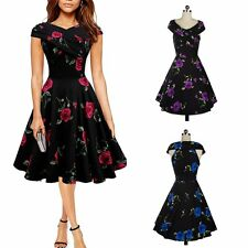 Womens Vintage Rockabilly 50s 60s Retro Pinup Swing Cocktail Party Evening Dress
