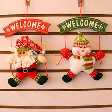 Merry Christmas Wall Hanging Snowman Santa Claus Deer Xmas Tree Party Ornament