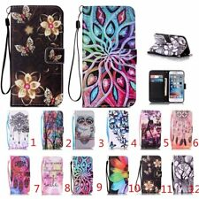 Pattern Hybrid Slots Flip Stand Magnetic Wallet Leather Case Cover For Iphone