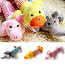 Cute Dog Toys Pet Puppy Chew Squeaker Squeaky Plush Sound Pig Elephant Rabbits