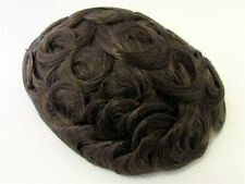 Men's Hairpiece Toupee Very Dark Golden Brown 100% Human Indian Hair RARE 6