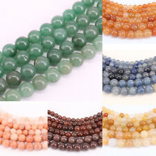 "15"" Aventurine Jade Round Gemstone Loose Spacer Bead Jewelry Findings 4/6/8/10MM"