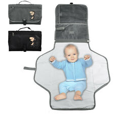 Waterproof Travel Portable Baby Diaper Changing Pad Mat Bag With Storage Pockets
