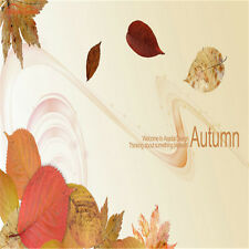 Autumn Fallen Leaves Contract Vintage Wallpaper Roll for Wall 3d Cafe sofa Decal