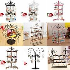 72 96 Holes Earring Jewelry Necklace Display Rack Metal Stand Holder Organizer