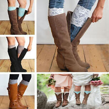 Women Girl Lady Sexy Florall Lace Leg Warmers Boot Socks Cuffs Leggings Winter