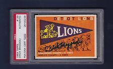 Chick Maggioli signed Detroit Lions 1959 Topps football card Psa Authenticated