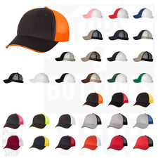 Valucap Mens Sandwich Trucker Cap Stractured Mid-Profile 6-Panel Hat - S102