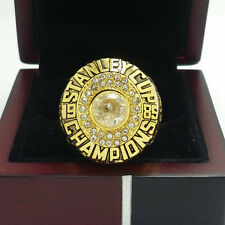 1985 Edmonton Oilers Stanley Cup Championship Solid Copper Ring 8-14Size+Box