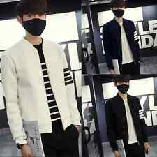Outdoor New Coat Mens Zipper Fashion Casual Slim Outerwear Cotton Jacket A +