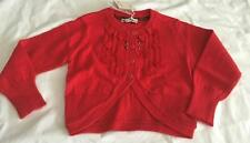 ELIANE ET LENA Girls 2, 3, 4, 5 & 6yrs RED MONETTE BOLERO STYLE CARDIGAN - NWT