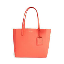 Kate Spade Cape Drive Hallie Tote  - Bright Papaya - PXRU6406-892