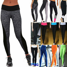 Womens High Waist Yoga Fitness Leggings Running Gym Stretch Sports Long Pants