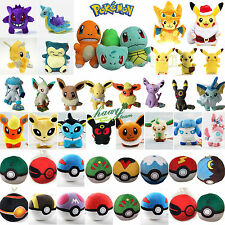 New Pokemon Go Pikachu Eevee Squirtle Pokeball Plush Soft Toy Stuffed Doll Gift