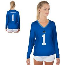 Cal State San Marcos Cougars Womens Long Sleeve V-Neck Shirt Jersey  Design