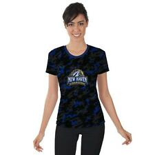 New Haven Chargers Womens Short Sleeve Shirt Camo  Design