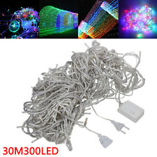 Warm White 300 LED 30M Fairy String Lights Christmas Tree Xmas Party Wedding EU