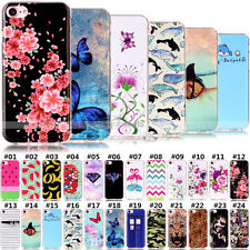 Painted Fashion Silicone TPU Soft Crystal Case Gel Cover For Apple iPhone 7 Plus