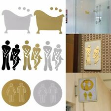 Wall Decal Male Female Toilet Sticker Funny Art Sign Bathroom Decor Durable