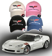 C6 Chevrolet Corvette Hat - (2005-2012) Z06 ZR1 Chevy Bowtie Grand Sport - New!