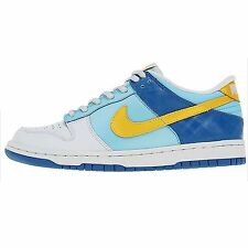 Nike Dunk Low Gs Big Kids 309601-471 White Blue Yellow Shoes Youth Sz:4y-7y