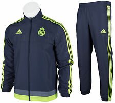 ADIDAS REAL MADRID OFFICIAL MEN'S FULL ZIP TRACKSUIT TRACK JACKET PANTS XS S