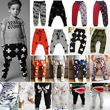 Baby Kids Infant PP Leggings Bottoms Boys Girls Harem Pants Trousers Sweatpants