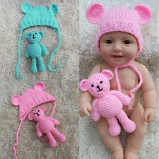 Newborn Infant Baby Boys Girls Photography Prop Photo Crochet Knit Bear Costume