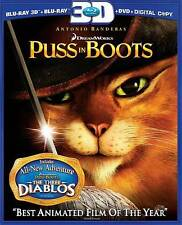 Puss in Boots (Blu-ray/DVD, 2012, 2-Disc Set, Includes Digital Copy; 3D)